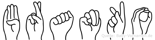 Branko in Fingersprache für Gehörlose