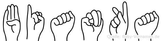 Bianka in Fingersprache für Gehörlose