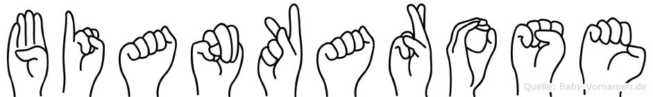 Biankarose in Fingersprache für Gehörlose