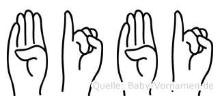 Bibi im Fingeralphabet der Deutschen Gebärdensprache