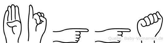 Bigga in Fingersprache für Gehörlose