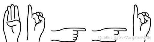 Biggi in Fingersprache für Gehörlose