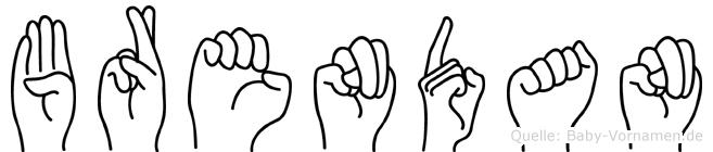 Brendan im Fingeralphabet der Deutschen Gebärdensprache