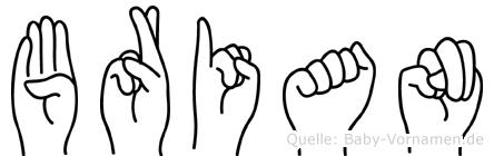 Brian in Fingersprache für Gehörlose