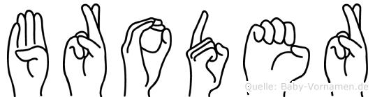 Broder in Fingersprache für Gehörlose
