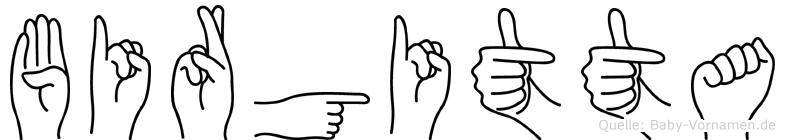 Birgitta in Fingersprache für Gehörlose