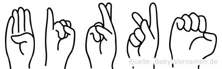 Birke im Fingeralphabet der Deutschen Gebärdensprache