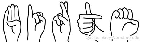 Birte in Fingersprache für Gehörlose