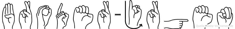 Broder-Jürgen im Fingeralphabet der Deutschen Gebärdensprache