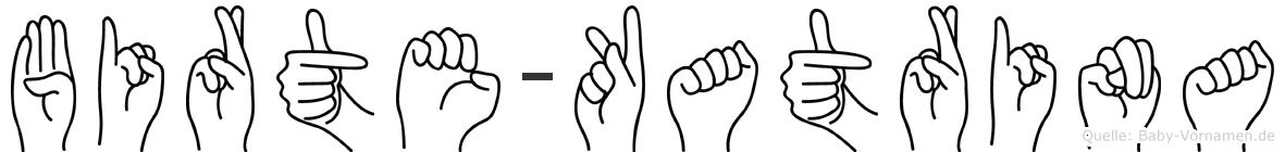 Birte-Katrina im Fingeralphabet der Deutschen Gebärdensprache