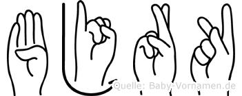 Björk in Fingersprache für Gehörlose