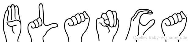 Blanca in Fingersprache für Gehörlose