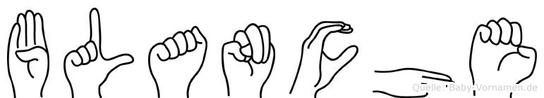 Blanche im Fingeralphabet der Deutschen Gebärdensprache