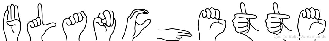 Blanchette in Fingersprache für Gehörlose