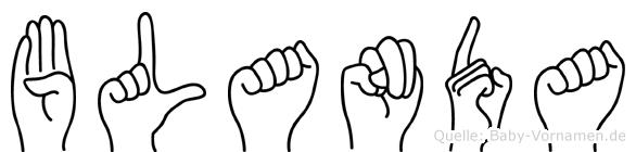 Blanda in Fingersprache für Gehörlose