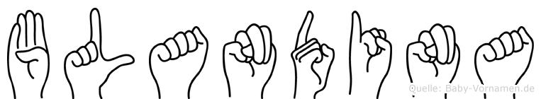 Blandina in Fingersprache für Gehörlose