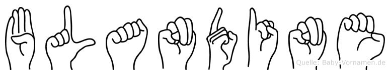 Blandine in Fingersprache für Gehörlose