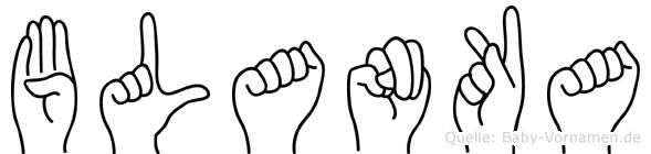 Blanka in Fingersprache für Gehörlose