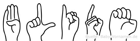 Blide in Fingersprache für Gehörlose