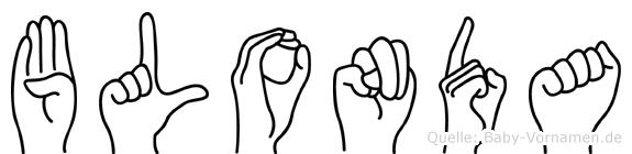 Blonda in Fingersprache für Gehörlose
