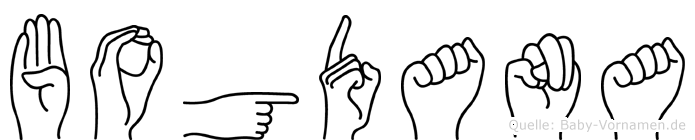 Bogdana im Fingeralphabet der Deutschen Gebärdensprache