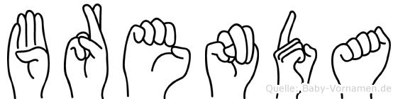 Brenda in Fingersprache für Gehörlose