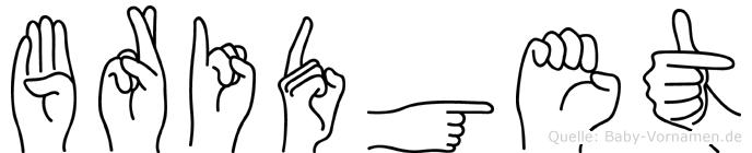 Bridget im Fingeralphabet der Deutschen Gebärdensprache