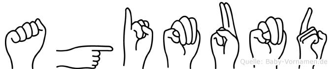 Agimund im Fingeralphabet der Deutschen Gebärdensprache