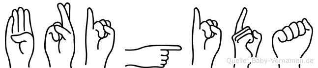 Brigida im Fingeralphabet der Deutschen Gebärdensprache
