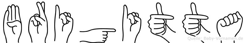 Brigitta im Fingeralphabet der Deutschen Gebärdensprache