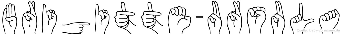 Brigitte-Ursula im Fingeralphabet der Deutschen Gebärdensprache