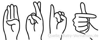 Brit in Fingersprache für Gehörlose