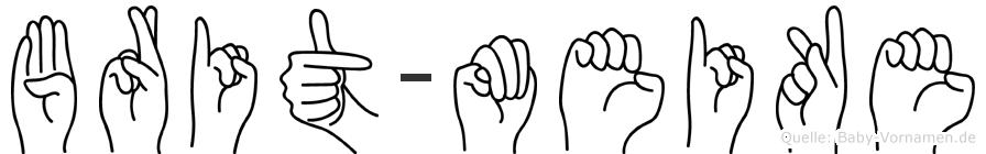 Brit-Meike im Fingeralphabet der Deutschen Gebärdensprache