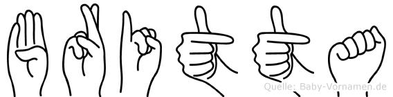 Britta in Fingersprache für Gehörlose