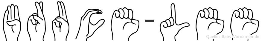 Bruce-Lee im Fingeralphabet der Deutschen Gebärdensprache