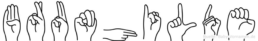 Brunhilde im Fingeralphabet der Deutschen Gebärdensprache