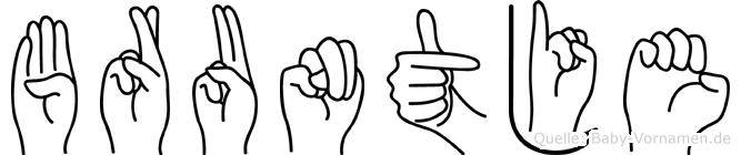 Bruntje in Fingersprache für Gehörlose