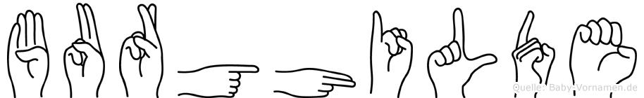 Burghilde in Fingersprache für Gehörlose
