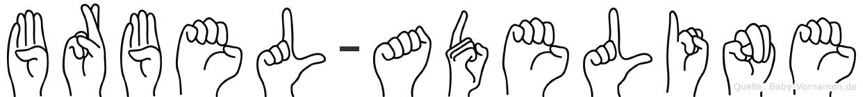 Bärbel-Adeline im Fingeralphabet der Deutschen Gebärdensprache