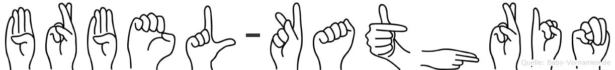 Bärbel-Kathrin im Fingeralphabet der Deutschen Gebärdensprache