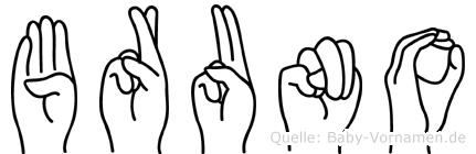 Bruno in Fingersprache für Gehörlose