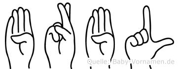 Bärbl in Fingersprache für Gehörlose