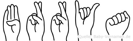 Börrya im Fingeralphabet der Deutschen Gebärdensprache