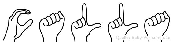 Calla in Fingersprache für Gehörlose