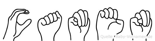 Camen im Fingeralphabet der Deutschen Gebärdensprache