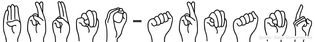 Bruno-Armand im Fingeralphabet der Deutschen Gebärdensprache