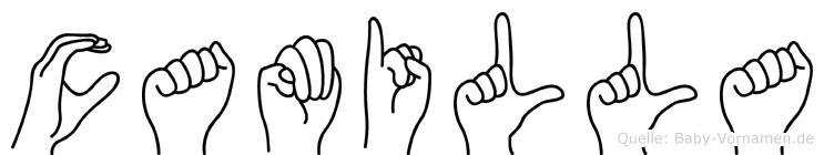 Camilla im Fingeralphabet der Deutschen Gebärdensprache