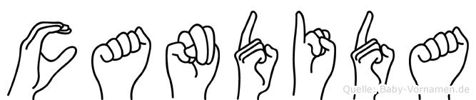 Candida in Fingersprache für Gehörlose