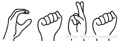 Cara in Fingersprache für Gehörlose