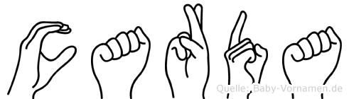 Carda in Fingersprache für Gehörlose